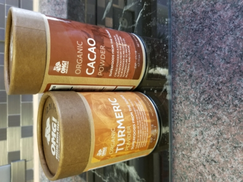 SuperFoods Organic - Turmeric and Cacao Powders